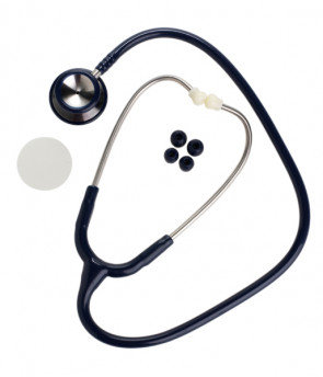 Stainless Steel Dual Head Stethoscope, Blue