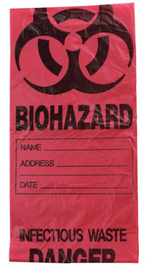 Infectious Waste Bags, 7-10 Gallon Capacity, 100/Case