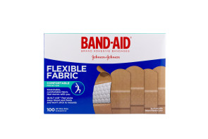 "J&J 1"" x 3"" Flexible Fabric Bandages, 100/Box"