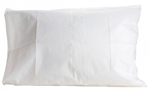 Plastic-Lined Disposable Paper Pillow Covers, 100/Case