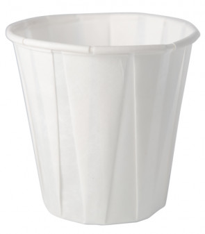 3.5 Oz Pleated Paper Cups, 100/Tube