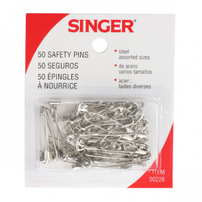Assorted Safety Pins, 50/Pkg