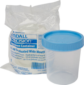 Specimen Container with Lid, 4 oz., Sterile, Each