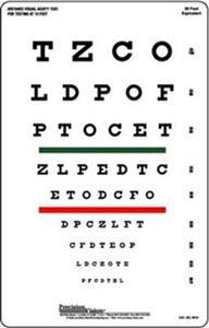 10-Foot Snellen Visual Acuity Chart