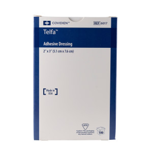 "Kendall Sterile 2"" x 3"" Adhesive Telfa Pads, 100/Box"