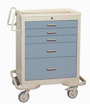 Blue Gray 5-Drawer Treatment/Procedure Cart
