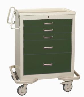 Hunter Green 5-Drawer Treatment/Procedure Cart