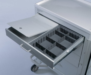 Security Lock Box for Medical Carts
