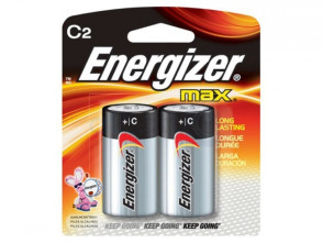"Eveready® Energizer® ""C"" Alkaline Batteries, 2/Pack"
