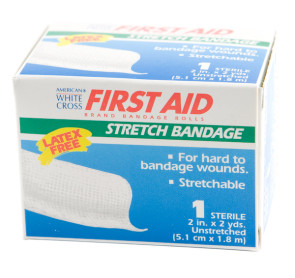 "Sterile 2"" x 2 Yds Flexible Gauze Stretch Bandage Roll"