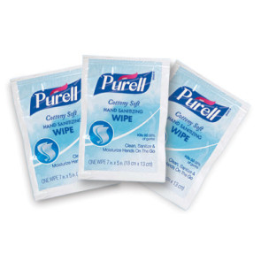 "Purell® Individually Wrapped Wipes, 5"" x 7"", 40/Box"