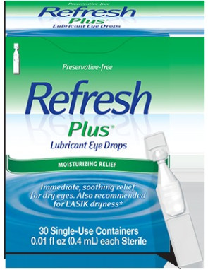 Refresh® Eye Drops, Single Use Twist-Off Vials, 30/Box