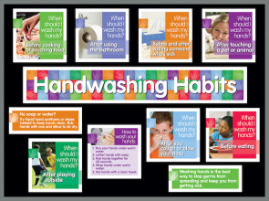 Hand Washing Bulletin Board Kit