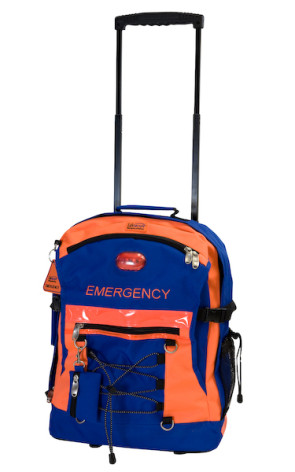 Rolling Emergency Backpack with LED Safety Signal