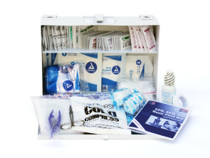 Complete 25-Person Metal First Aid Kit