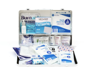 Complete 50-Person Metal First Aid Kit