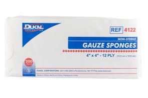 """Dukal Non-Sterile 4"""" x 4"""" Gauze Sponges 200/Bag"""