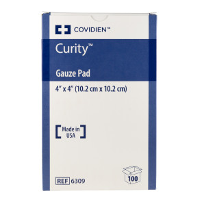 "Curity Sterile 4"" x 4"" Gauze Pads, 100/Box"