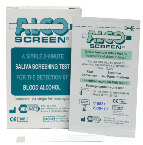 AccuStrip® Alcohol Saliva Test, 25/Box